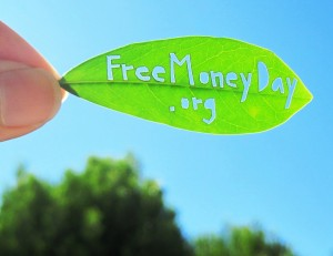 Free Money Day leaf cutout