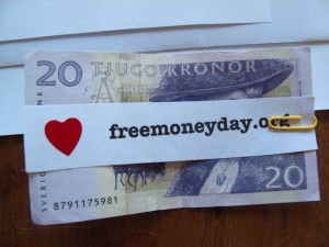 Free Money Day in Stockholm